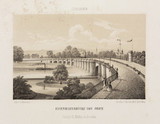 Railway bridge, Dresden, Germany, c 1840.