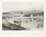 'The Britannia Tubular and Menai Suspension Bridges', Wales, c 1860.