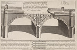 Sunk pier and arches of Westminster Bridge, London, 1748.