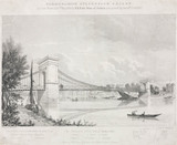 'Hammersmith Suspension Bridge', London, 1828.