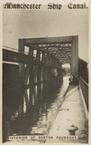 'Manchester Ship Canal, interior of Barton Aqueduct', Manchester, 1900s.