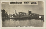 'Manchester Ship Canal, Barton Bridge and Aqueduct', Manchester, 1900s.