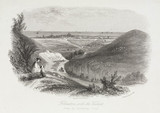'Folkestone with the Viaduct, from the Canterbury Road', Kent, c 1850.