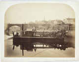 Dredger by Junction Bridge, Leith, Scotland, c 1863.