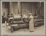 'Thread turning', Cunard Munition Works, Liverpool, 1914-1918.