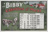 The 'Bibby' Cakettes and Meal, calendar, 1908.