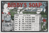 Bibby's promotional calendar advertising 'Bibby's soap', 1908.