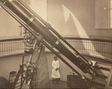 Refracting telescope at the Pulkowa Observatory, St Petersburg, Rusia, 1876.