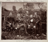 Sir William Henry Perkin, English chemist, with colleagues, c 1870.