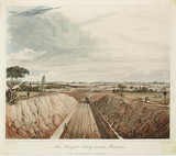A view of the Liverpool & Manchester Railway, 1831.