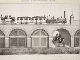First clas carriages on the London & Greenwich Railway, c 1832.