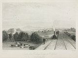 View of Dublin from the railway bridge at Holybrook, 1836.