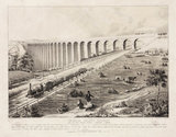 Crimple Valley Viaduct, near Harrogate, York and North Midland Railway, 1847.