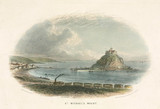 'St Michael's Mount', Cornwall, 19th century.