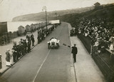 Sunbeam car at Colwyn Bay Speed Trials, c 1912.