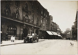 Motor car parked outside a hotel, Shrewsbury, Shropshire, c 1912