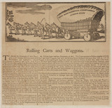 'Rolling Carts and Waggons', c 1773.