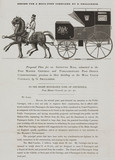 'Design for a Mail-post Carriage by G Shillibeer', 1835.