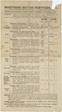 Worthing Motor Services Ltd bus timetable, 1910.