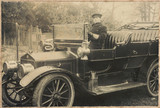 Chauffeur at the wheel of a motor car, c 1905-1920.