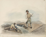 Miners washing lead ore, Northumberland, c 1805-1820.