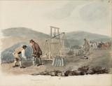 Weighing lead ore, Northumberland, c 1805-1820.