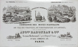 Trade card for a French company producing asphalt, c 1850-1880.