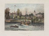 Boats sailing on the Thames by 'Twickenham Ait', Middlesex, 1851.