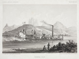 PS 'Chimney Peak', a US Explorer Stern Wheel Paddle Steamer, c 1865.