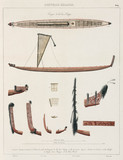 Maori canoes, New Zealand, 1826-1829.