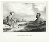 Aboriginal man and woman, Tasmania, Australia, 1826-1829.