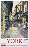 'The Shambles, York', BR poster, 1962.
