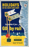 'Holidays on the North East Coast', BR poster, 1961.