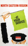 'At Your Service', BR(NER) poster, c 1960s.