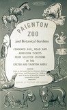 'Paignton Zoo and Botanical Gardens', BR (SR) poster, c 1950s.