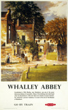 Whalley Abbey, British Rail poster, 1959.
