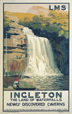 'Ingleton: The Land of Waterfalls', LMS poster, 1923-1947.