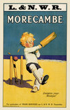'Morecambe Loosens Your Stumps!', LNWR poster, early 20th century.