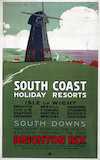 'South Coast Holiday Resorts', LBSCR poster, 1900-1922.