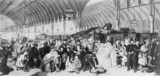 'The Railway Station', London, 1866. Line