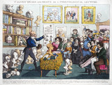 'Calves' Heads and Brains or a Phrenological Lecture', 1826.