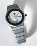 'No battery' quartz analogue wristwatch, 1984.