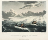 'Canoe Broaching to, in a Gale of Wind at Sunrise', Canada, 23 August 1821.