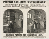 Advertisement for Chappuis' patent reflectors, c 1851-1870.