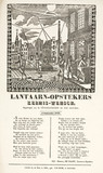 Gas lamplighters in Amsterdam, poster, 1856.
