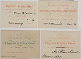 Lecture tickets and matriculation certificate, Harvard, USA, 1837-1839.