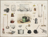 Household utensils, c 1870-1900.