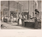 The kitchen at the Reform Club, London, c 1835.