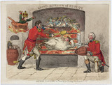 'British Cookery' or 'Out of the Frying Pan Into the Fire', c 1811.