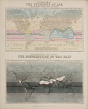 Two meteorological maps, c 1850.